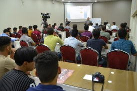 اختتام دورة (فن كتابة الخبر الصحفي) في مؤسسة الحكمة بقيادة المدرب ماجد السوداني