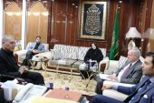 لقاء بين وفد منظمة تسوية النزاعات في العالم (CMI) ونائب الأمين العام للعتبة العلوية المطهرة برعاية مركز الحوار في مؤسسة الحكمة