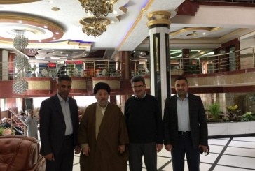 سماحة السيد صالح الحكيم يستقبل الدكتور حازم باقر من كلية الإمام الكاظم