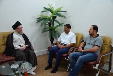 مدير مكتب المرجع السيد الحكيم في سوريا يزور مؤسسة الحكمة وقناة المنهاج الفضائية