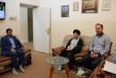 السيد رياض الحكيم يزور مؤسسة الحكمة وقناة المنهاج الفضائية (صور)